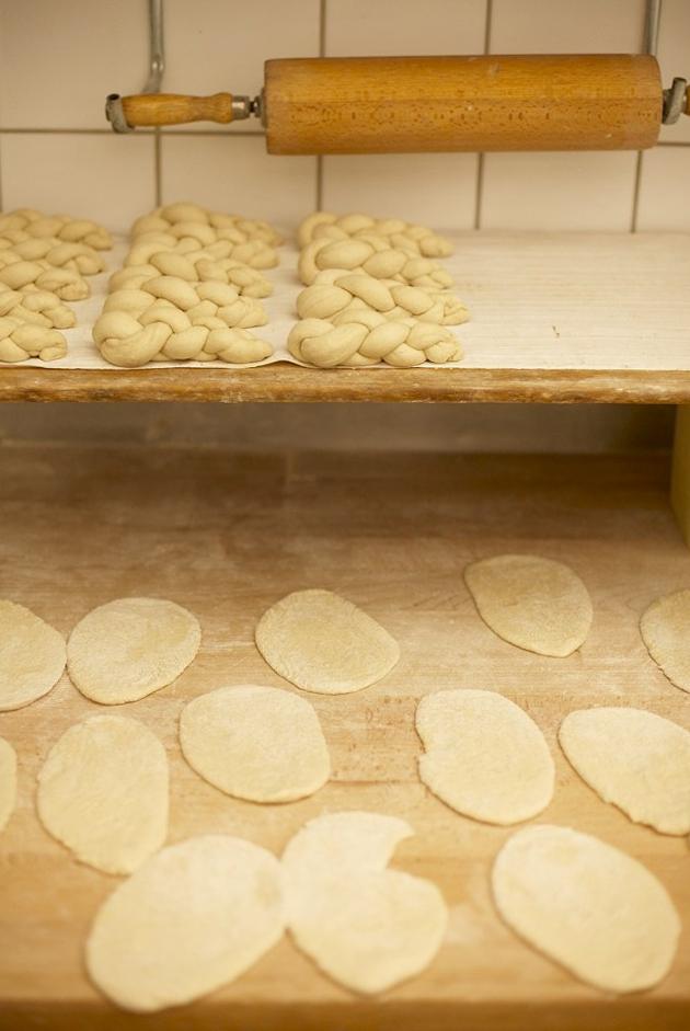 Teig Rohlinge in n der Brot und Feinböckerei Neulinger