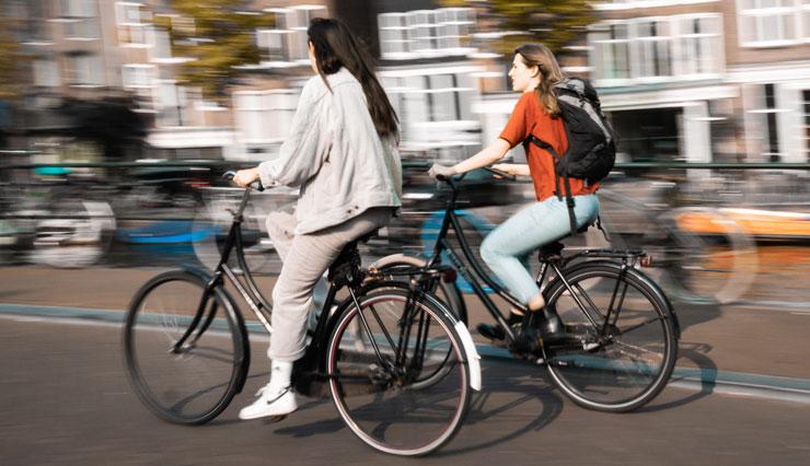 Fahrrad fahren im Alltag um Kalorienumsatz zu erhöhen