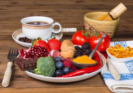 Gesunde Ernähung mit antioxidativen Lebensmitteln
