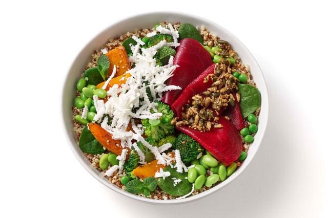 Die Protein Bowl von heartbeet lässt sich ins Büro bestellen