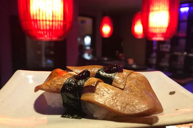 Veganes Sushi im Restaurant Kansha