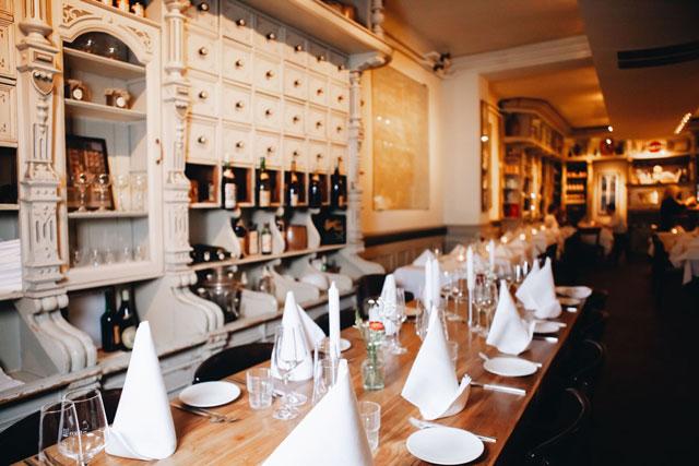Charme des früheren Kolonialwarenladens im Restaurant Diekmann