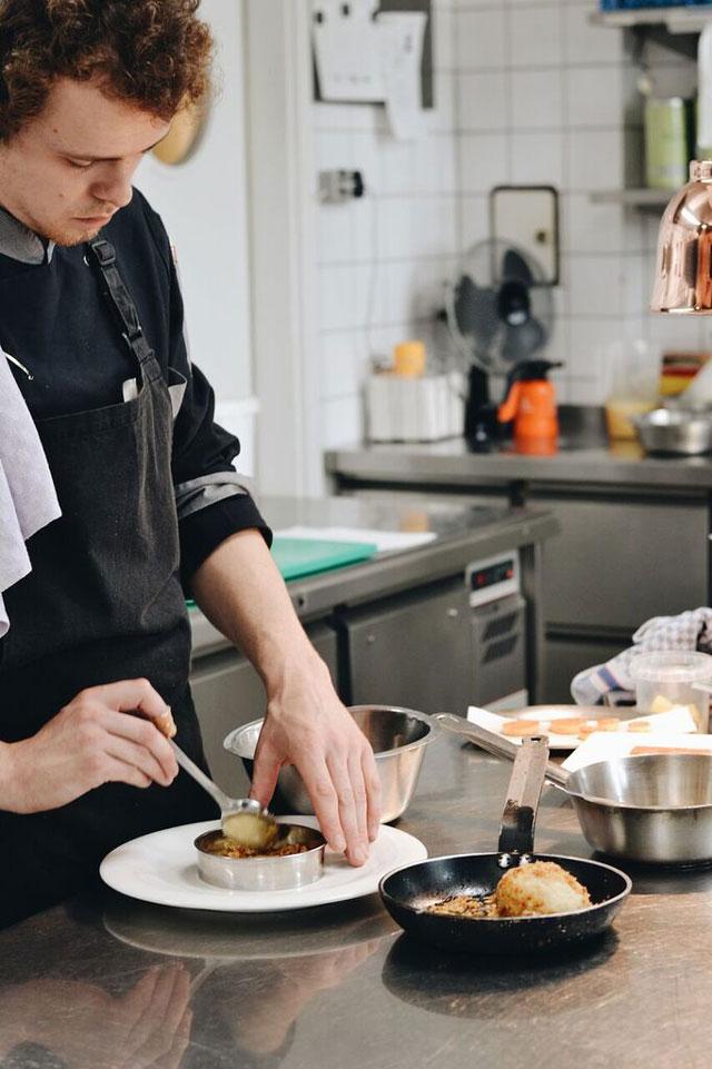 In der Küche des Restaurant Diekmann