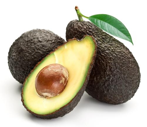 Reife Avocado halbiert