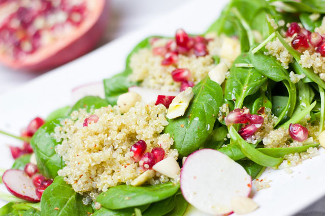 Veganer Couscoussalat, msich vegan im Büro zu ernähren